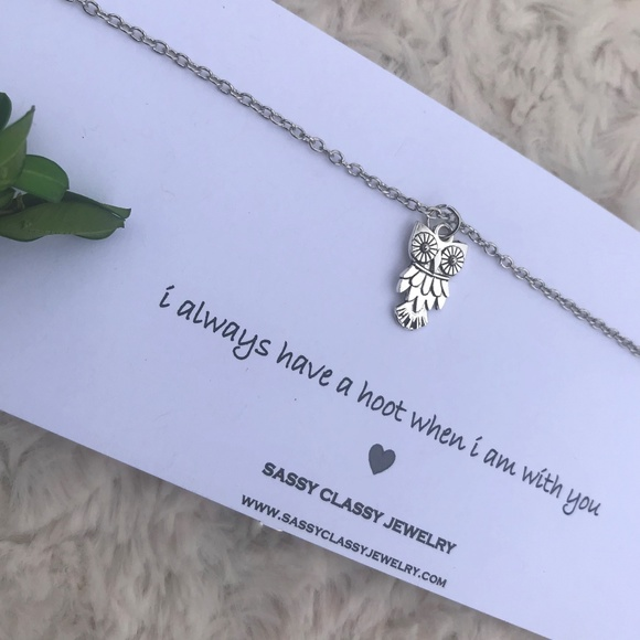 Funny Owl Necklace Gift For Best Friend Birthday